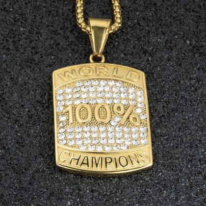 Lant placat aur 100% campion sus
