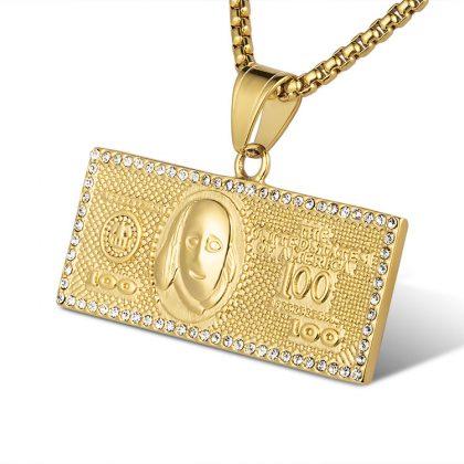 Lant placat aur 100 dolari