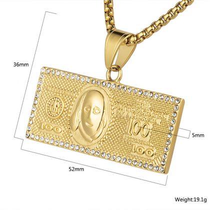 Lant placat aur 100 dolari detalii