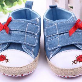 Pantofi bebelusi albastrii 0-6 luni
