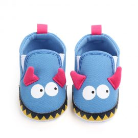 Pantofi bumbac albastrii 0-6 luni
