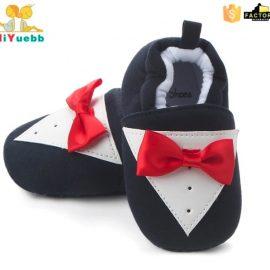 Pantofi bumbac cu papion 0-6 luni