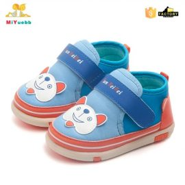 Pantofi catelus albastrii 0-6 luni fata