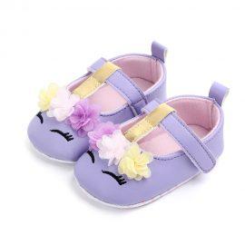 Pantofi fetite mov floricele 12-18 luni