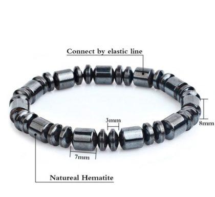 Bratara eleganta magnetica hematite detalii