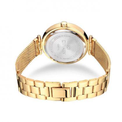 Ceas dama auriu cu cristale Curren spate