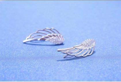 Cercei argint 925 aripa inger fata
