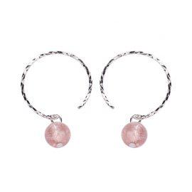 Cercei argint 925 cristale roz