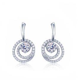 Cercei eleganti spirale argint 925