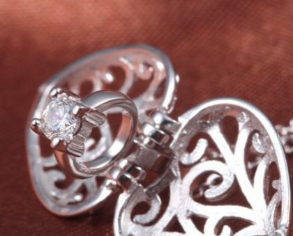 Colier inimioara deosebita argint 925 detalii