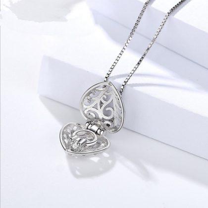 Colier inimioara deosebita argint 925 sus