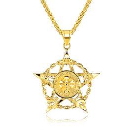 Lant placat aur pandantiv pentagrama