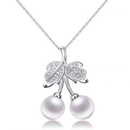 Lantisor argint 925 perle albe
