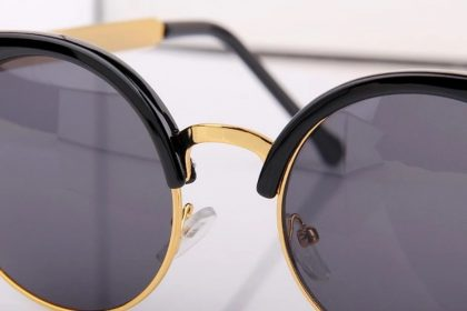 Ochelari de soare dama cat eyes lentile negre detalii