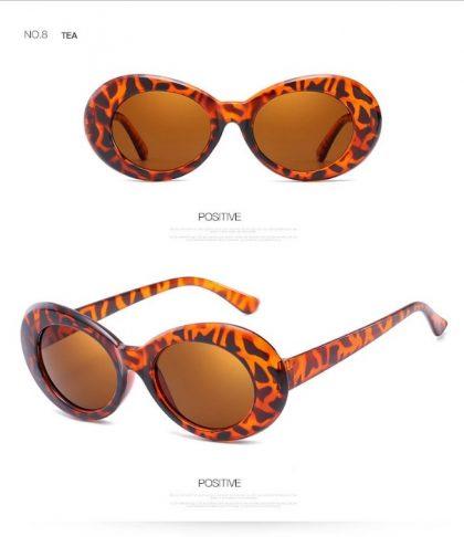 Ochelari de soare dama leopard print fata
