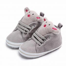 Pantofi soricel simpatic gri 0-6 luni