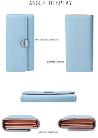 Portofel albastru tip plic Love detalii