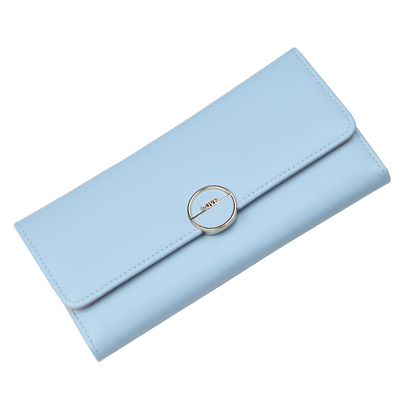 Portofel albastru tip plic Love