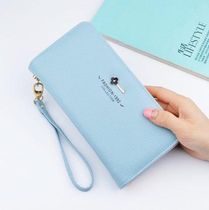 Portofel dama albastru Fashion