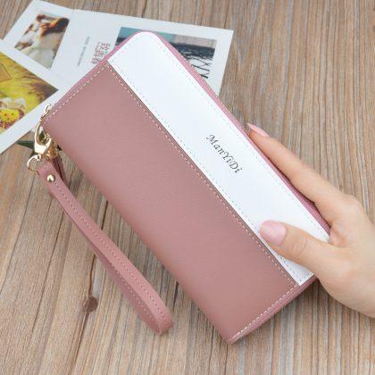 Portofel dama roz-alb Else