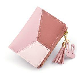 Portofel dama roz Tassel
