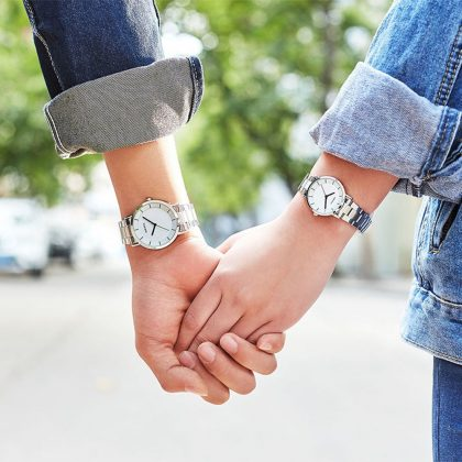 Ceasuri cuplu cadran alb Difful model