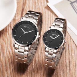 Ceasuri cuplu cadran negru Difful