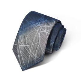 Cravata barbati albastra-gri