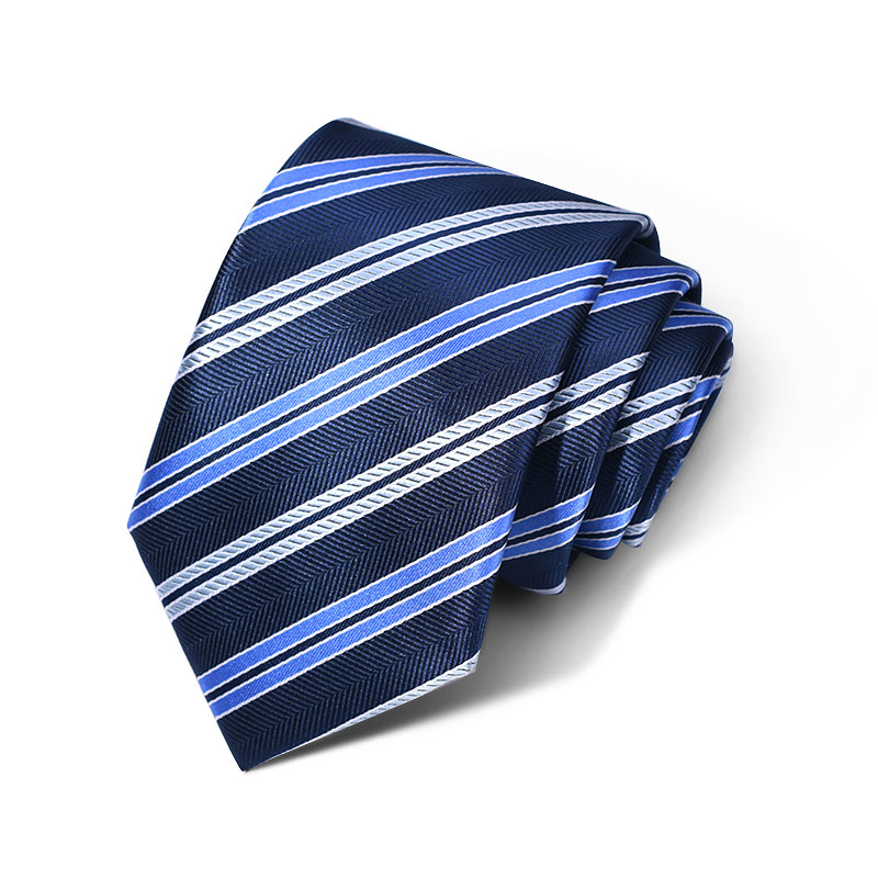 Cravata barbati bleumarin cu dungi Daniel