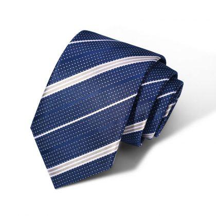 Cravata barbati bleumarin cu dungi Hudson