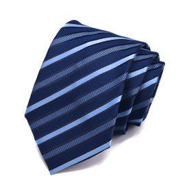 Cravata barbati bleumarin cu dungi Peter
