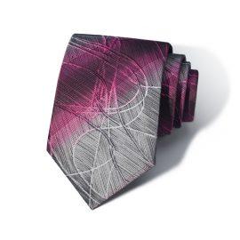 Cravata barbati gri-roz