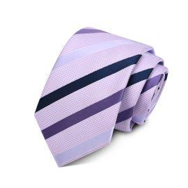 Cravata barbati mov cu dungi Rob