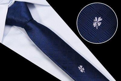 Cravata barbati neagra cu model trifoi