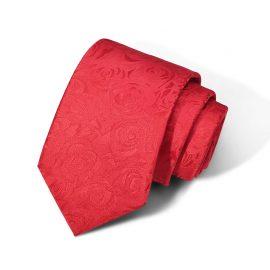 Cravata barbati rosie model floral