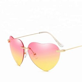 Ochelari de soare dama inima roz galbena