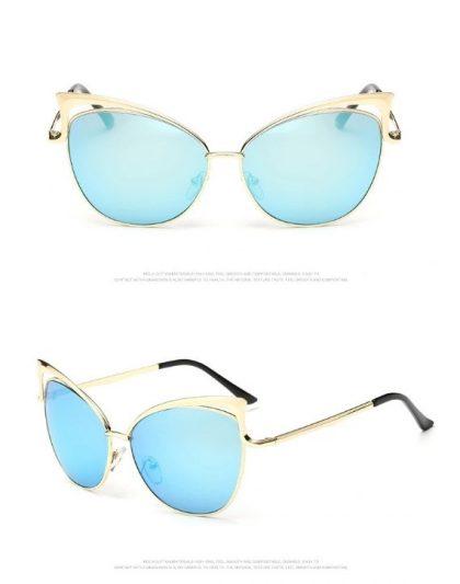 Ochelari de soare dama lentile albastre Devon detalii