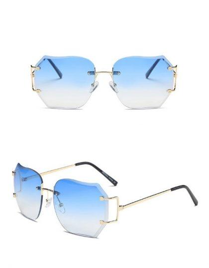 Ochelari de soare dama lentile albastre Erica detalii