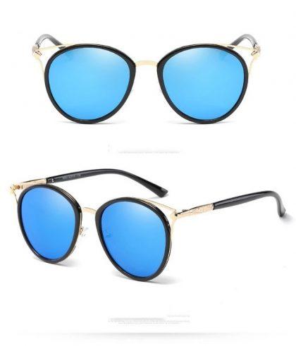 Ochelari de soare dama lentile albastre Fergie detalii