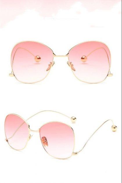 Ochelari de soare dama lentile roz Brianna detalii