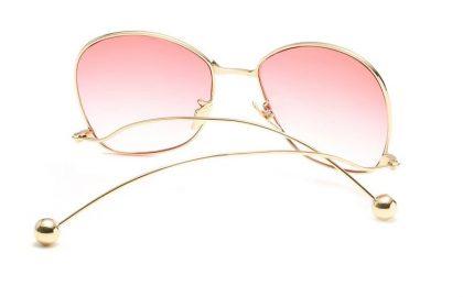 Ochelari de soare dama lentile roz Brianna spate