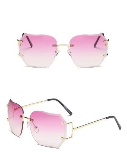 Ochelari de soare dama lentile roz Erica detalii