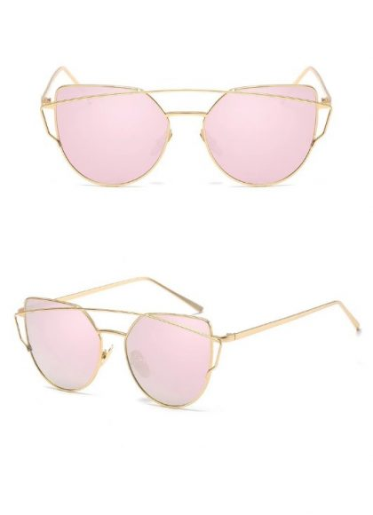 Ochelari de soare dama lentile roz Lane detalii