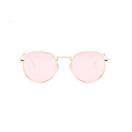 Ochelari de soare dama lentile roz rotunde