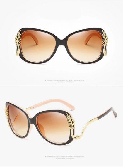 Ochelari de soare dama maro Alison detalii