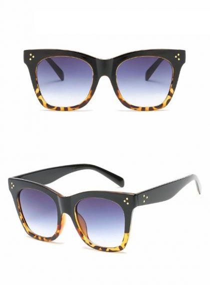 Ochelari de soare dama rame leopard print detalii