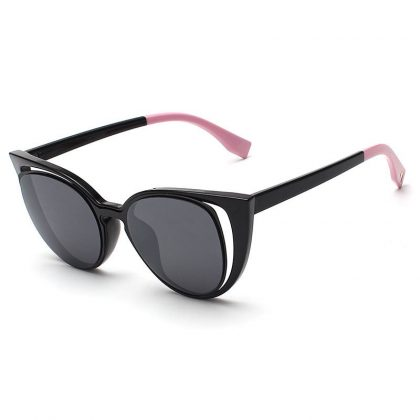 Ochelari de soare dama rame negre-roz