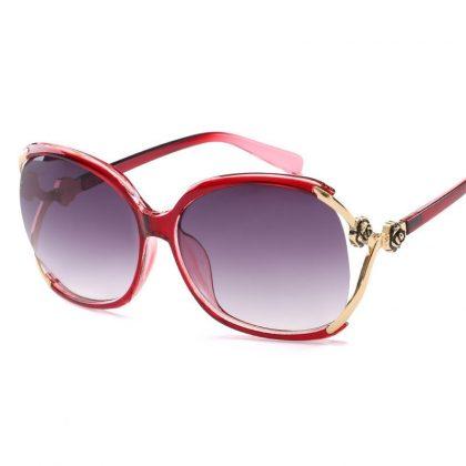 Ochelari de soare dama rame rosii Brianna