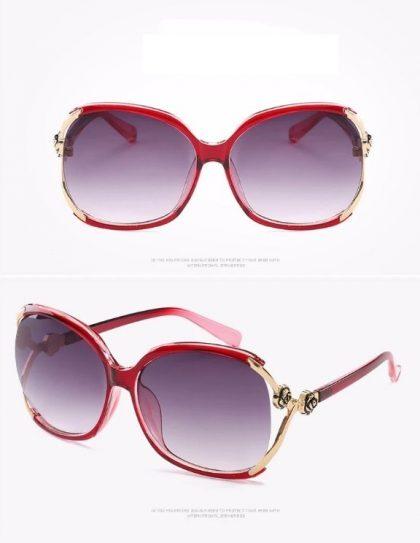 Ochelari de soare dama rame rosii Brianna detalii