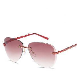 Ochelari de soare dama rame rosii Jennifer